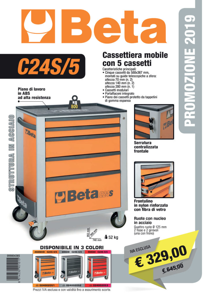 Promo Cassettiera Beta 2019 Ramico Torino