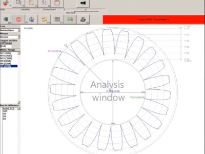 HMI Software Finestra di analisi Exameca Ramico