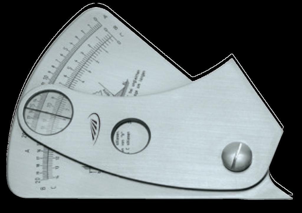 Helios Preisser 0595 Calibro controllo altezza cuciture saldature Ramico Strumenti Misura